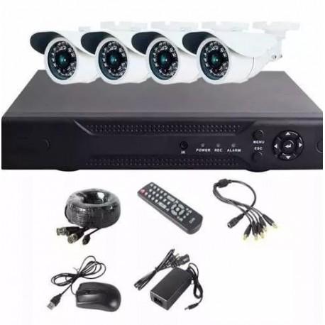 Instalación kit 4 cámaras con Dvr